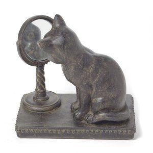 NWT Cat Mirror Resin Figure